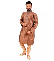 Man-Kurta pajama Brown