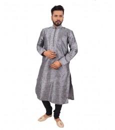men-kurta pajama grey